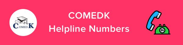 COMEDK Helpline & Contact Details 2020