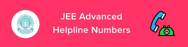 JEE Advanced Helpline & Contact Details 2020