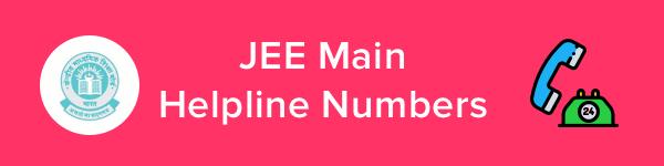 JEE Main Helpline & Contact Details 2020