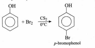 At Low Temperature Phenol Reacts With Br2 In Cs2 To Form